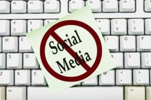 no to social media